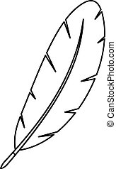 Feather pen icon outline