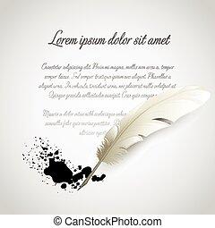 Feather Pen. Vector illustration