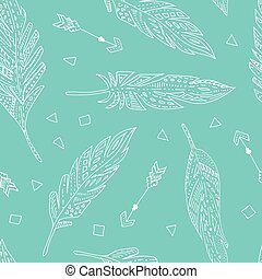Feather seamless pattern.
