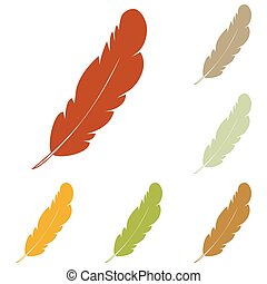 Feather sign illustration