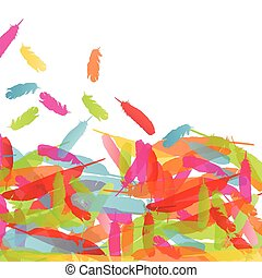 Feather vector background concept