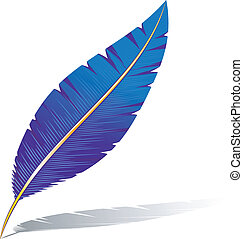 Vector feather. Isolated on white. EPS 8, AI, JPEG