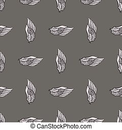 Feather Wings Seamless Pattern