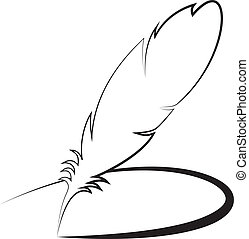Feather with line