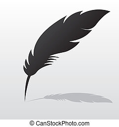 Feather with shadow