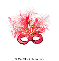 feathered mardi gras mask