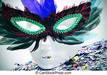 feathers carnival mask