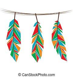 Feathers color set