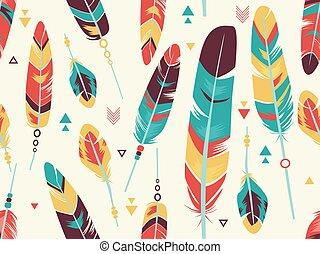 Feathers Seamless Background Illustration
