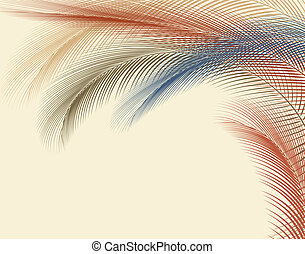 Feathery - Abstract editable vector illustration of colorful...