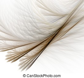 Feathery Layers Abstract - Curving and flowing layers of...