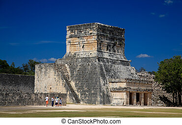 Feb 19, 2009 in Chichen Itza  Mexico: Tourists visiting the this top attraction in Mexico