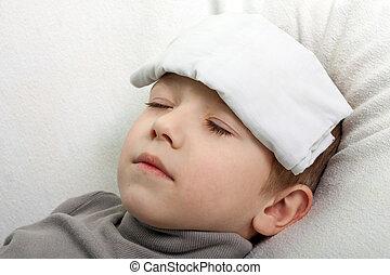 feber, barn