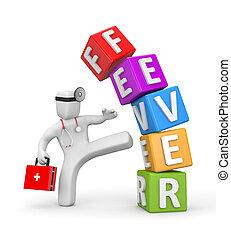 feber, sparka, läkare