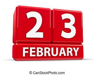 febrero, cubos, 23rd