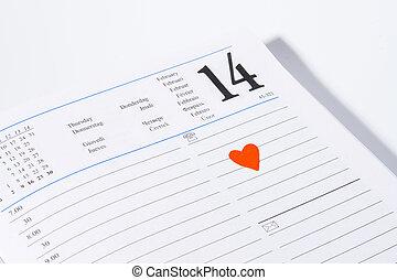 február, valentines, 14