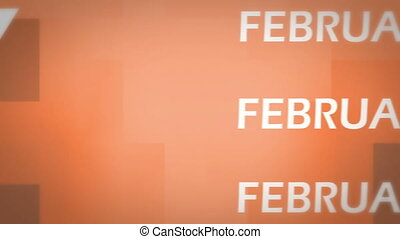 februar, animation
