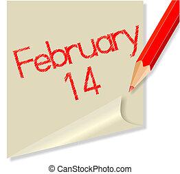 February 14 - Post-it February 14