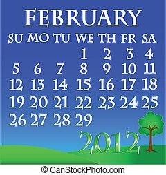 February 2012 landscape calendar