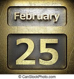 february 25 golden sign