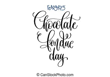february 5 - chocolate fondue day - fun winter holiday in...