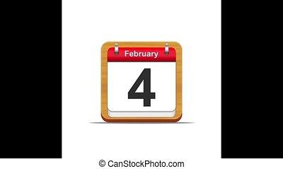 February calendar.