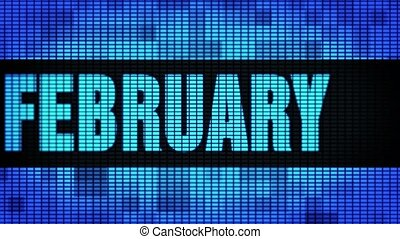 February Front Text Scrolling LED Wall Pannel Display Sign...