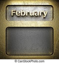 february golden sign