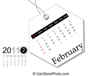 February of 2011 calendar