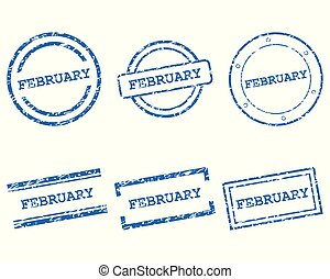 February stamps