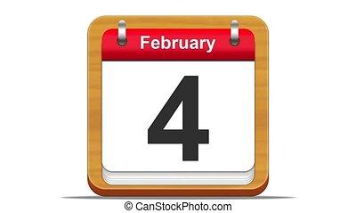 February. - February calendar.