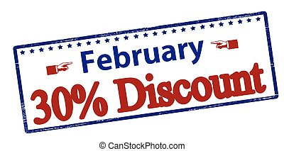 February thirty percent discount