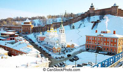 February view Kremlin Nizhny Novgorod Russia