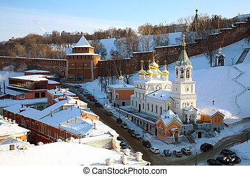 February view Nizhny Novgorod Kremlin Russia