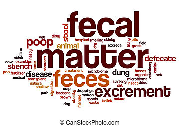 Fecal matter word cloud concept