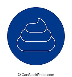 fecal stool , line block style icon vector illustration ...