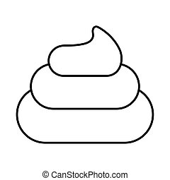 fecal stool , line style icon vector illustration design