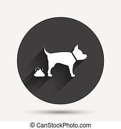 Feces sign icon. Clean up after pets symbol.