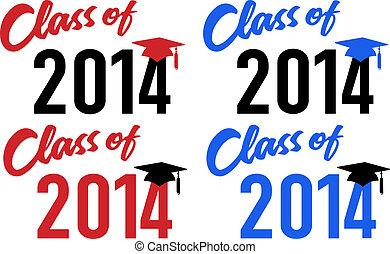 fecha, 2014, clase de la escuela, graduación