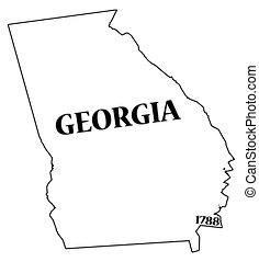 fecha, estado, georgia