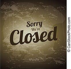 fechado, etiqueta