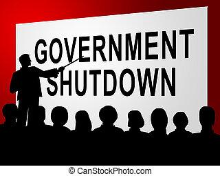 fechado, fórum, governo, senado, meios, shutdown, presidente, américa, ou