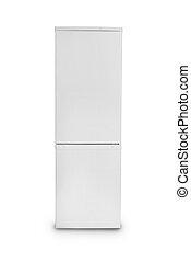 fechado, fundo, isolado, refrigerador, branca