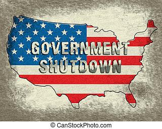 fechado, governo eua, senado, meios, shutdown, presidente, américa, ou