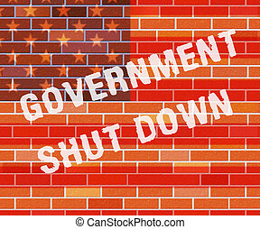 fechado, governo, parede, meios, senado, shutdown, presidente, américa, ou