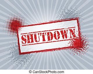 fechado, governo, selo, meios, senado, shutdown, presidente, américa, ou