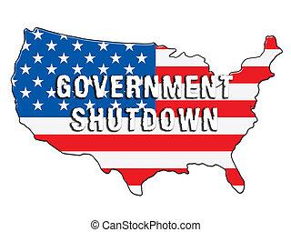 fechado, governo, senado, símbolo, meios, shutdown, presidente, américa, ou