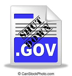 fechado, governo, webpage, meios, senado, shutdown, presidente, américa, ou