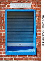 fechado, janela bilhete