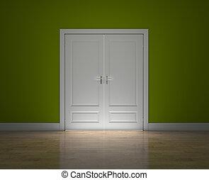 fechado, portas